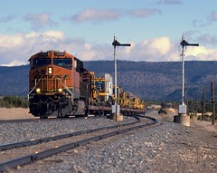 Not expecting the un-expected (Zeolite C O) Tags: bnsf chappelle newmexico pentax67 fujiastia100 foamers