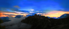 FRANCE - Alps at sunset (Jacques Rollet (very little available)) Tags: landscape sunset france alps alpes sky nuage cloud groupenuagesetciel mountain