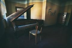 Fuck (a└3 X) Tags: hdr alexfenzl licht urbex derelict decay verfall exploring forgotten lost urbandecay 3x a└3x wow old geschlossen verlassen vergessen fuck piano