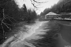 Barrage et Moulin au Bord du Lison (francky25) Tags: barrage et moulin au bord du lison nans sous sainte anne franchecomté doubs hiver noir blanc black white