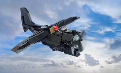 "BR-1 ""Pint of Stout"" (Ron and Co. Bricks) Tags: lego build bricks toy play afol moc myowncreation custom minifigure aeroplane aircraft plane propeller fantasy steampunk sky"
