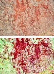 8971 - EKUTA (HerryB) Tags: 2013 southafrica southwest afrique afrika africa namibia südwest sonyalpha77 slr heribertbechen tamron alpha bechen fotos photos photography sony herryb rockart rockpaintings peintres rupestres petroglyph san zeichnungen felszeichnungen höhlenmalerei paintings bushmen buschmänner dstretch harman jon jonharman enhance falschfarben restauration digitalenhanced enhancement verwitterung granit granite enhanced ekuta abri halbhöhle überhang aiaiba hinterholzer erongo erongogebirge