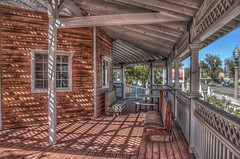 Shadows on the Porch (Michael F. Nyiri) Tags: shadows independenceca california northerncalifornia rustic wood