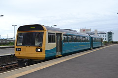 Arriva Trains Wales Pacer 142082 (Will Swain) Tags: cardiff queen street station 11th august 2018 train trains rail railway railways transport travel uk britain vehicle vehicles cymru west wales north europe atw valley lines arriva pacer 142082 class 142 082