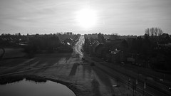 Shadows (YasmineP) Tags: blackandwhite shadows view sun soleil sky noiretblanc canon eos 7d belgium belgique lalouviere hainaut canalducentre pont street rue ombres urbain city ville horizon cityscape ciel morning matin sunrise leverdesoleil