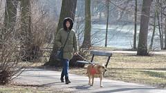 2019-02-23 February in Chateau Garden 3 (beranekp) Tags: czech teplice teplitz chateau schloss garden garten women dog