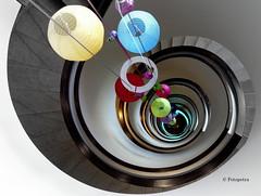 Treppe mit Frühlingsschmuck (petra.foto busy busy busy) Tags: fotopetra frühling februar sony travemünde ostsee schleswigholstein germany stairs schnecke treppe treppenhaus