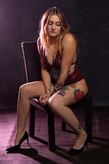 Aurora (austinspace) Tags: woman portrait spokane washington tattoo blond blonde studio nude