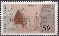 Deutsche Briefmarken (micky the pixel) Tags: briefmarke stamp ephemera deutschland bundespost europäischesdenkmalschutzjahr denkmalschutz rothenburgobdertauber siebersturm plönlein kobolzellertor bayern