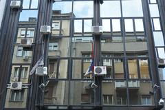 reflection (Hayashina) Tags: serbia belgrade building reflection window hww airconditioner