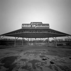 Granger's Grand Amphitheater, Granger, Washington (austin granger) Tags: granger washington amphitheater amphitheatre sign pinhole film woodbläk ufo