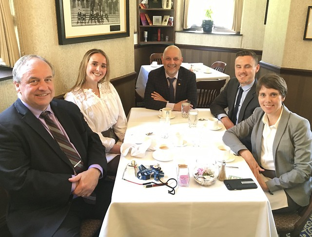 Dining with our 2018 BCLIP Interns and the Green Caucus