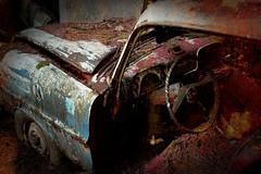 Rusty (David Gyselaers) Tags: car cars rust wreck wrecks graveyard cemetery