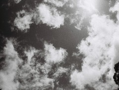Clouds (Matthew Paul Argall) Tags: boots110teleautoflash 110 110film subminiaturefilm lomographyfilm 100isofilm blackandwhite blackandwhitefilm cloud clouds sky