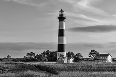 Bodie Island Light Station (Gregg Southard NC) Tags: blackandwhite bodieislandlighthouse capehatterasnationalseashore clouds lighthouse nautical northcarolina outerbanks silverefexpro2