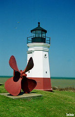 Propeller and Lighthouse (Thom Sheridan) Tags: thomsheridan lorain county ohio vermilion lakeerie greatlakes old vintage film 2001