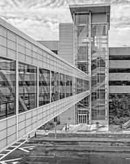 All The Angles (mgstanton) Tags: blackwhite bw monochrome lines geometric bridge parking street stairs mall natick natickma