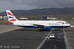 G-EYCD Airbus A320 British Airways Glasgow airport EGPF 13.03-19 (rjonsen) Tags: plane airplane aircraft aviation airliner airside airport taxying stand gate ramp apron