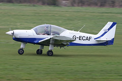 G-ECAF (QSY on-route) Tags: gecaf manchester egcb barton city airport 30032019