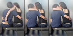 PARIS - À L'ARRÊT D'UN BUS (mimi.deparis21) Tags: paris arrêtbus amoureux couple jeunes vitres verre bras corps baiser embrasser lover kiss girl boy bench banc frenchkiss