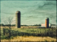 A matter of perspective.... (Sherrianne100) Tags: memories barn silos fence rural farm ozarks missouri