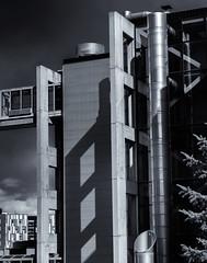 Architectural Detail 2   # 38  ....  (c)rebfoto (rebfoto...) Tags: rebfoto monochrome architecture architecturaldetail urban urbanscape architecturalphotography