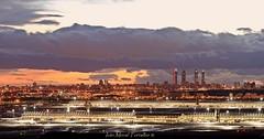 Aeropuerto Madrid (ivánmoral) Tags: madrid madridbarajas aeropuerto atardecer torres towers ctba canon70200mm28 canon6d panorámica paracuellosdeljarama mirador