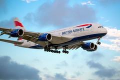 British Airways A380 (pbuschmann) Tags: ba speedbird britishairways a380 airbus super lax finalapproach r24r losangeles lhrlax gxlec