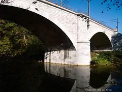 Autumn Hike (Spotmatix) Tags: 1442mm architecture belgium bridge camera evolte400 fall forest houyet landscape lens lesse namur olympus places river seasons water zoomstd