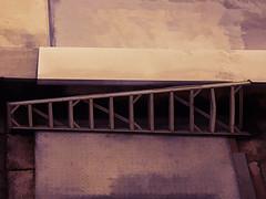 The Ladder of Success (Steve Taylor (Photography)) Tags: ladder roof digitalart minimalism minimalist mauve metal concrete asia city singapore