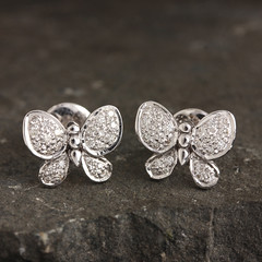 Natural 0.35 ct. Diamond Pave Butterfly Stud Earrings Solid 14K White Gold Fine Jewelry Click to See :- https://www.ebay.com/itm/153440985017 Visit our eBay Store :- http://stores.ebay.com/couturechi (couturechics.facebook1) Tags: natural 035 ct diamond pave butterfly stud earrings solid 14k white gold fine jewelry click see httpswwwebaycomitm153440985017 visit our ebay store httpstoresebaycomcouturechi