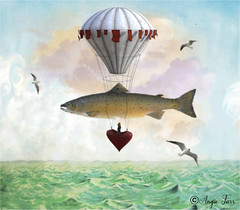 Adventures New... (rubyblossom.) Tags: duc fish balloon adventure fly birds affinity