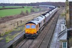 Power Dust (JohnGreyTurner) Tags: br rail uk railway train transport diesel engine locomotive 66 class66 shed emd gbrf freight coal hoppers brocklesby lincolnshire