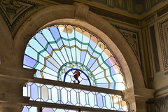 Stained glass window 0210 (Tangled Bank) Tags: in main house vizcaya museum gardens miami old classic heritage vintage history historical mansion dade county florida art stained glass window 0210