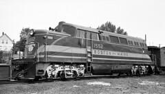 Boston & Maine BL2 #1552 at Groveton, NH (Houghton's RailImages) Tags: bostonmaine bm bl2 groveton emd diesel locomotive newhampshire usa