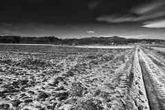 Caraglio (Stefano72.it) Tags: piemonte paesaggio panasonic landscape natura nature neve snow cuneo montagna bn inverno lumix silver efex tz100
