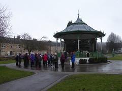 Ramblers at Burngreen Park bandstand, Kilsyth (luckypenguin) Tags: scotland northlanarkshire kilsyth ramblers walking burngreenpark park bandstand