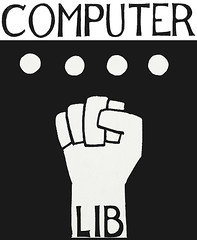 Computer-Lib (Steve Bowbrick) Tags: computerlib tednelson book cover hypertext fist graphic design