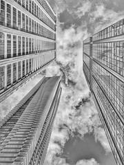 Tower Trilogy (JamesAnok || ThetaState) Tags: archidose clouds sky urban tower building architecture blackandwhite monochrome 2019 february canada ontario toronto