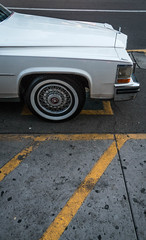 Classic White Car - Scottsdale, Arizona (ChrisGoldNY) Tags: chrisgoldphoto chrisgoldberg sonyalpha sonya7rii sonyimages licensing forsale travel arizona america usa scottsdale white yellow sidewalk classic cars retro vintage hoods tires wheels lookingdown