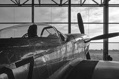 Isolation (Rob Oo) Tags: utrecht netherlands holland nmm nationalmilitairmuseum nederland thenetherlands ro016b planes p51 mustang blackandwhite