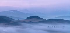 Avalon (http://www.richardfoxphotography.com) Tags: cairngorms cairngormsnationalpark scottishhighlands scotland mist misty fog foggy sunrise redskies panorama mountains sky outdoors glenavon