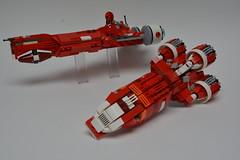Corellian corvettes of the Phantom Menace (Pierre MiniBricks) Tags: lego star wars mini moc pierre minibricks corvettes css1 radian4 c70 naboo menace phantom