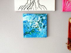 DSCN4013 (AfricanSand) Tags: acrylic pour paintings acrylicart pourpaintings acrylicpaintings homedecor officedecor stretchedcanvas blue flowart