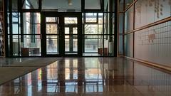 Exit (blondinrikard) Tags: patricia göteborgsuniversitet lindholmen chalmerslillhagen entré entrance floor shiny shining reflection nybonatgolv reflektion spegel