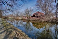 Early Spring Reflections (kendoman26) Tags: hdr nikhdrefexpro2 imcanal iandmcanal imcanaliandmcanal morrisillinois sonyalpha sonya6000 sel1628 sonyphotographing sonyvclecu1