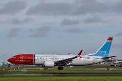 LN-BKC                   B737 MAX 8          Norwegian   Unicef Livery (Gormanston spotter) Tags: max avgeek boeing eidw dub gormanstonspotter 2018 norwegianairlines b737max8 uniceflivery lnbkc