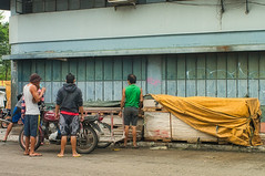 We can do this (Beegee49) Tags: street men warehouse timber wood delivery luminar sony a99 happy planet workers manual bacolod city philippines asia