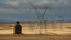 Out With The Old (Chris Lakoduk) Tags: abandoned barn landscape photography industrial communications powerlines earth wayoflife farming farmer land