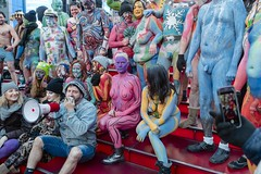 Human Connection Arts (clickchick888) Tags: humanartsconnection humanconnectionarts naked body paint nyc polarpaint polar outside cold verycold winter 2019 timessquare times square bleechers